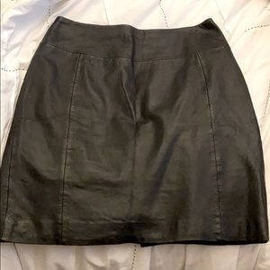 Black Leather Mini Skirt